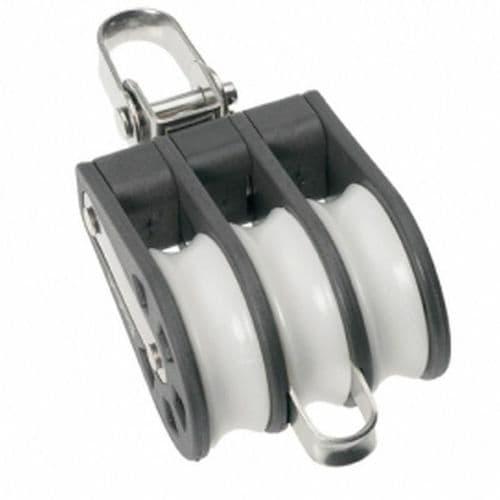 Barton Plain Bearing Block Triple Size 1 (30mm) - Swivel